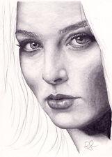 Arte Original. Rachel Nichols Retrato. por Simon campo.