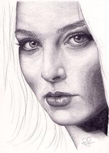 Original Art. Rachel Nichols portrait. By Simon Field.