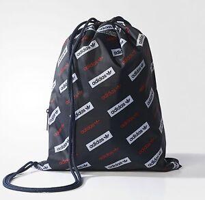 adidas Originals Drawstring Graphic Repeat Logo Gym Sport Bag *NEW