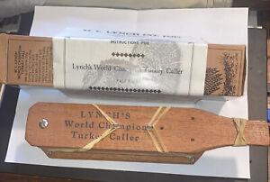 M.L. Lynch World Champion Turkey Call #102 Instruction Manual/box Liberty Miss