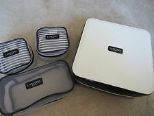 Lancome Signature Train Case COSMETIC BAG MAKEUP BAG + 3 COSMETIC BAGS NEW