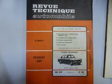 Revue technique PEUGEOT 204 (1966/1969) RTA 289 1970 berline cabriolet coupé