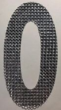 """GIANT SILVER RHINESTONE LETTER """"O"""" Stickers(1pc)JoAnn's•Name•Initial •Label•Last"""
