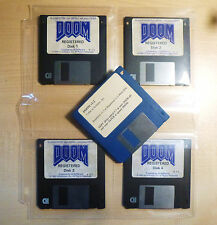 DOOM Version 1.1 - 3.5 Floppy Game Disks for PC-DOS & Vers. 1.2 Patch Disk RARE!