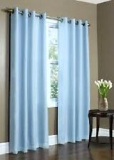 2 PANELS LIGHT BLUE LINED THERMAL BLACKOUT GROMMET WINDOW CURTAIN 55X84 PC #60