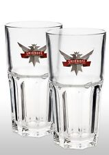 Smirnoff Vodka Highball Glass New x 2