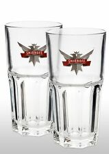Smirnoff Vodka Highball Glass New x 2 With Glass Stirrers