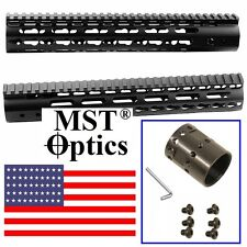 "12"" Inch Handguard 9.8 oz Ultra Light Weight Slim Keymod Free Float Rail by MST"