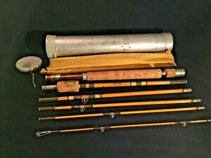 "Vintage 6 Pc. Wright-McGill ""Trailmaster"" Eagle Claw 6'9"" Fishing Rod  In Tube"