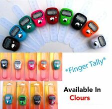 2 X DIGITAL LCD CROWD TALLY COUNTER PEOPLE CLICKER TALLY FINGER COUNTER CLICKER