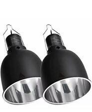 New listing Repti Zoo Light Fixture 2 Packs 5.5 Inch Deep Dome Lamp Cap Optical Reflection