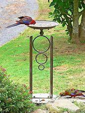 DESIGN BIRD FEEDER BIRD BATH 80 CM HIGH garden antique brown  NEW