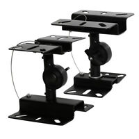 2x Adjustable Surround Sound Heavy Duty Steel Speaker Wall Ceiling Mount Bracket