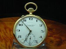 IWC Schaffhausen 14kt 585 Gold Open Face Taschenuhr von ca. 1925 / Kaliber 52