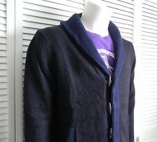 NEW Mens Size XXL 2XL ALPACA Navy Blue Shawl Collar Sweater Cardigan PERU