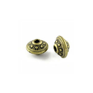 Antique Bronze Acrylic Beads Saucer 9 x 14mm Pack Of 40+