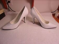 """Pleaser 5"""" White High Heel Pumps Shoes 12"""