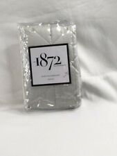 NIP EST 1872 Euro Pillowsham Quilted Umbria 26in x 26in White Shadow