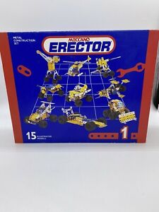 Meccano Vintage Erector Set - NEW IN THE BOX - Metal Construction Set 15 Models