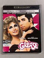 GREASE 40th Anniversary Edition (4K UHD + Blu-ray + Digital) John Travolta - NEW