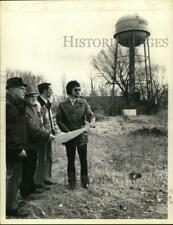 1973 Press Photo Officials survey site for proposed water tower in Cohoes, NY