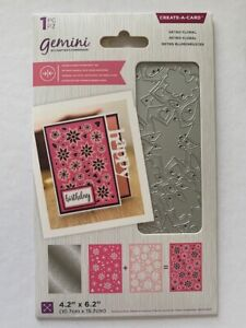 Gemini Double-Sided Layerable Create-a-Card Metal Craft Die - Retro Floral
