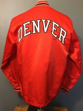 Vtg 60s 70s Rawlings Denver Warmup Baseball Jacket Mens L 42 Orange Satin Sewn