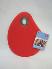 Tala Silicone Mixing Bowl Dish Baking Scraper Metal Insert Red Large 10A11513