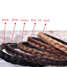 Womens Braided Headband Synthetic Hair Plaited Head Band Hairband Multicolors