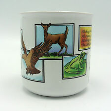 All Creatures Great and Small Quote with Wild Animals Coffee Mug
