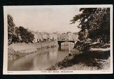 Somerset BRIDGWATER River & Bridge 1953 RP PPC pub by Tuck