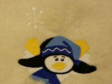 Personalized Embroidery Baby Blanket Penguin