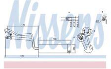 NISSENS Filtro deshidratante, aire acondicionado NISSAN QASHQAI 95448