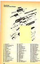 WEATHERBY CENTURION AUTO SHOTGUN WITH  EXPLODED VIEW/PARTS LIST 1974 AD