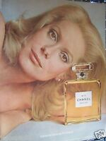 1973 Chanel No 5 Cologne Catherine Deneuve Original Print Ad 8.5 x 11""