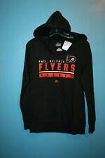 Majestic NHL Philadelphia Flyers Pullover Hoodie Size Sm Black Sweatshirt - New!