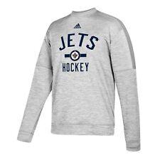 NHL Winnipeg Jets adidas Fleece Climawarm Crew Sweater Jumper Pullover Mens