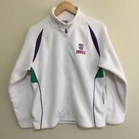 Fremantle Dockers Official AFL Full Zipper Windcheater Jumper White Womens 16