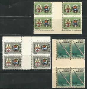 Venezuela: 3 different stamps in block of 4 in gutter pairs, mint NH. VZ0524