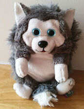 "New Jay Play HideAway Pets Siberian Husky Foldable Puppy 5"" Stuffed Plush Toy"