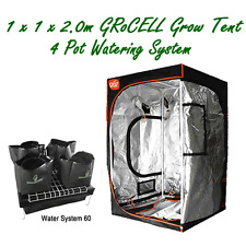 INDOOR GROW TENT 1X1X2M GroCELL AND 4 POT HYDROPONIC WATERING SYSTEM