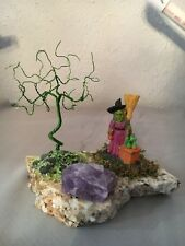 MINI BONSAI COPPER WIRE TREE HALLOWEEN ART SCULPTURE SCENE