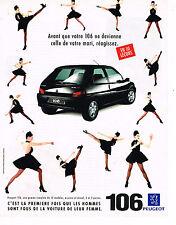 PUBLICITE ADVERTISING 035  1994  PEUGEOT 106