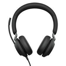 Jabra Evolve2 40 MS Stereo (USB-A) Headset Connects to PC & Mobile Devices