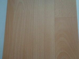CV PVC (7€/m²) Bodenbelag Holz Buche Optik Sonder Posten Sale 1&2 Meter breit