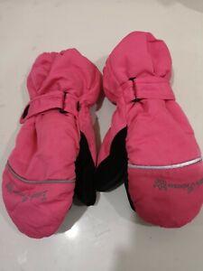 Crivit 'Little Princess' Pink Sports Girls Thinsulate Ski Gloves Mittens 5.5