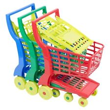 Kids Colourful Plastic Shopping Trolley Role Play Shopping Summer Indoor Fun NEW