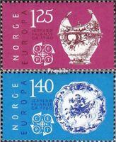Norwegen 724-725 (kompl.Ausg.) postfrisch 1976 Kunsthandwerk