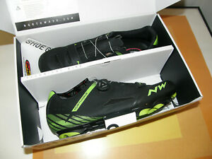 NORTHWAVE ORIGIN PLUS CYCLING SHOES SIZE 12 (EU46) BLACK & GREEN NEW & BOXED