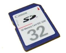 Canon Powershot S5 S80 SD550 SD750 SD900 SD1000 SD1100 IS 32MB SD Memory Card